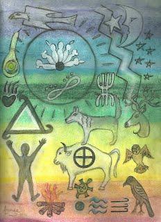 Example of a Soul Petroglyph Portrait